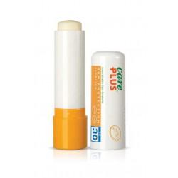 geel met witte lipstick uit de verpakking van Care Plus