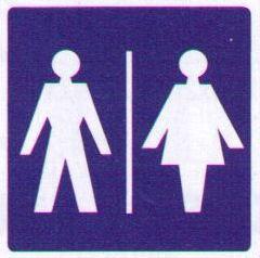 Sticker Dames- Herentoilet