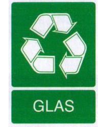 Sticker Glasafval