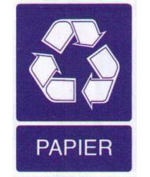 Sticker Papierafval
