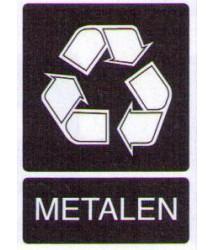 Sticker Metalenafval