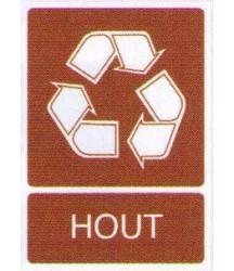Sticker Houtafval