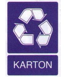 Sticker Kartonafval