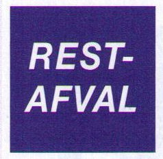 Sticker Restafval
