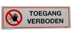 Pictogram Toegang verboden (PP)