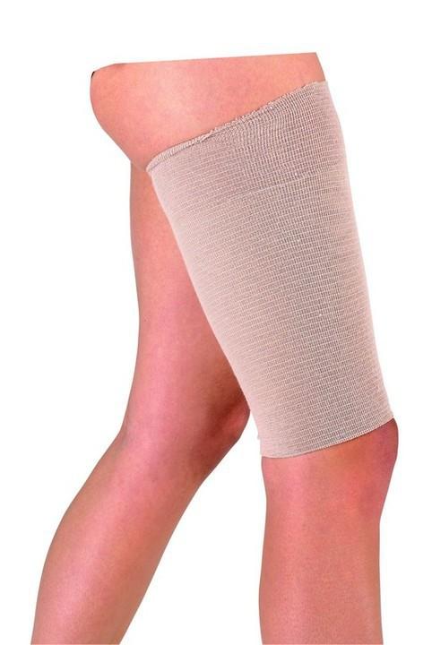twee benen en om bovenbeen tubigrip