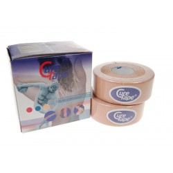Cure Tape 500x2.5cm beige per 2 rollen
