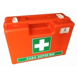 Verbandkoffer oranje met groen wit kruis