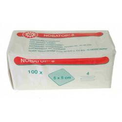 verpakking wit met rood van 100 niet steriele kompressen