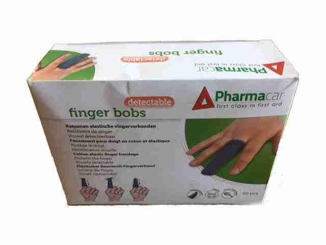 doos met afbeelding van een hand met een vingerbob