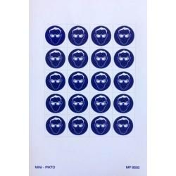 Mini picto oogbescherming verplicht 20 stuks