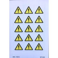Mini picto gevaar 15 stuks