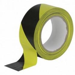 Markeringstape geel/zwart 50mm rol a 33 meter