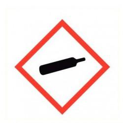 Sticker gashouder onder druk GHS