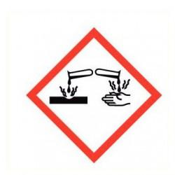 Sticker corrosieve stoffen GHS
