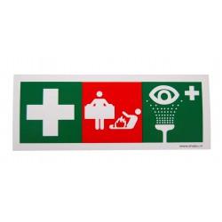 Sticker ehbo, blusdeken en oogspoel 150x50mm