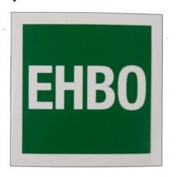 Sticker EHBO 40x40mm