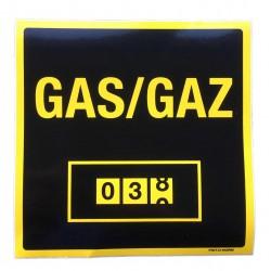 Sticker Gasmeter 150x150mm
