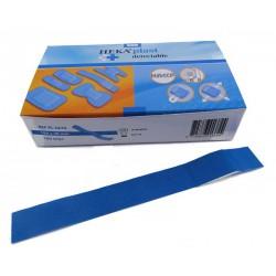 Lange textiel detectiepleisters 100 stuks (blauw) 18cm