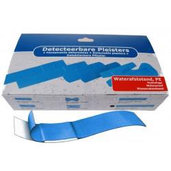Lange plastic  detectiepleisters 100 stuks (blauw)