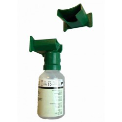 Wandhouder voor PLUM oogspoelflessen groen