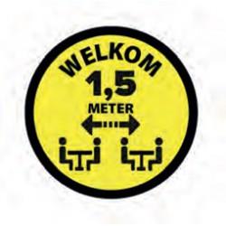 Sticker SitSafe 1,5 meter geel vinyl Ø200mm