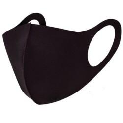 Zwart wasbaar stoffen mondkapje