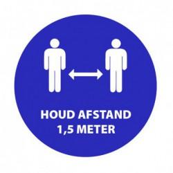 Sticker Houd afstand 1,5m vinyl Ø 200mm