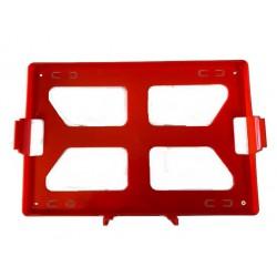 Oranje wandhouder voor verbandkoffer