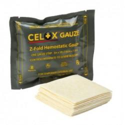 groen pakje Celox Gauze met wit verband
