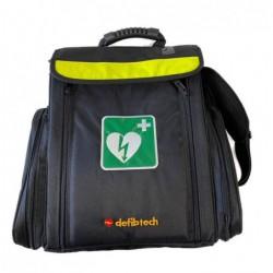 zwarte tas met AED logo en de tekst Defibtech.