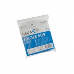 Vingerbob blauw zakje met 5 stuks