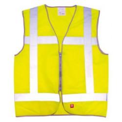 Vest geel vlamvertragend opdruk: BHV