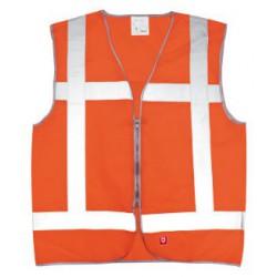 Vest oranje vlamvertragend opdruk: Ploegleider BHV