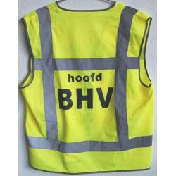 Vest geel vlamvertragend opdruk: Hoofd BHV