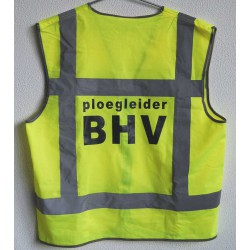 Vest geel vlamvertragend opdruk: Ploegleider BHV