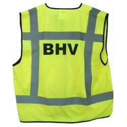 Veiligheidsvest geel opdruk BHV (EN-471)