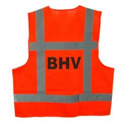 Veiligheidsvest oranje opdruk BHV (EN-471)