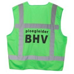 Veiligh.vest limegroen PLOEGLEIDER BHV