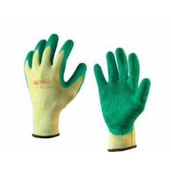 Handschoen GlovMech 350 groen geel 12 paar