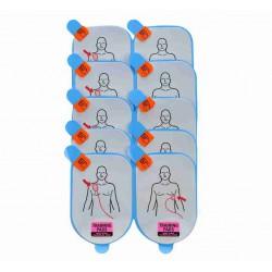 vervangingsplakkers voor Defibtech Lifeline trainer