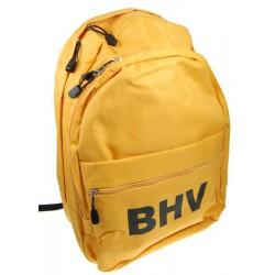 Gele rugtas met de tekst BHV in zwarte letters