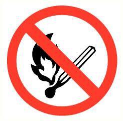 Pictogram open vuur verboden