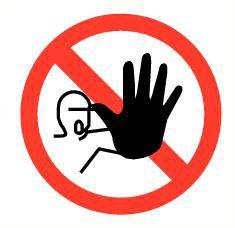 Pictogram verboden toegang