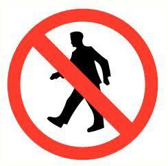 Pictogram voetgangers verboden