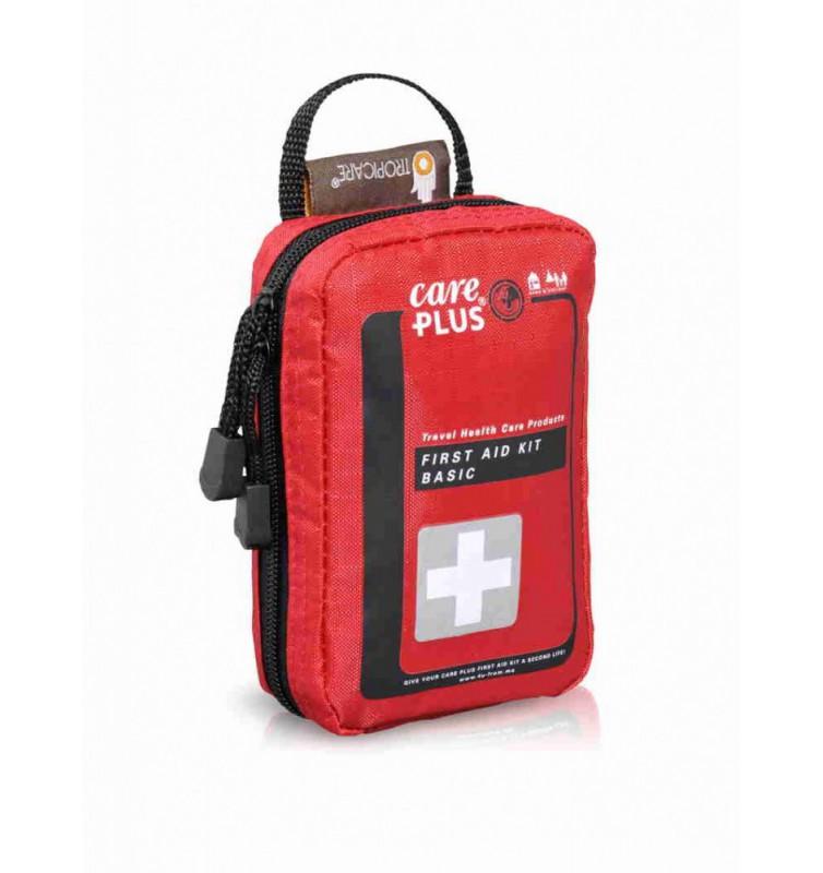 rood tasje met voor eerste hulpproducten