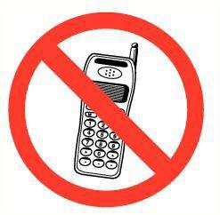 Pictogram mobiele telefoons verboden