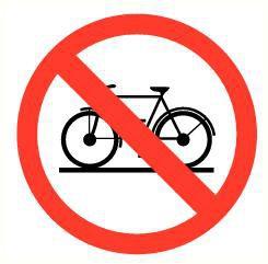 Pictogram verboden voor fietsen