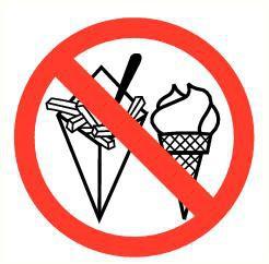 Pictogram etenswaren verboden