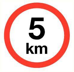 Pictogram maximum snelheid 5 km